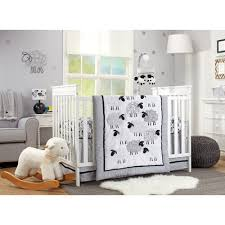 nojo good night sheep 4 piece crib bedding set reviews wayfair ca