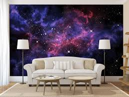 Blue Purple Galaxy WALL MURAL Self Adhesive Peel And Stick Large