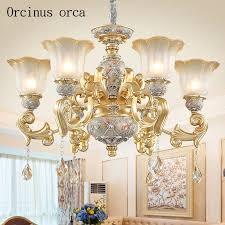 rabatt erhalten europäischen luxus harz gravur kronleuchter