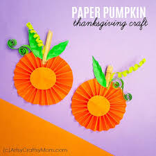 This Easy Paper Pumpkin Thanksgiving Craft Is Bound To Be A Hit With Kids The