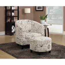 Coaster - Accent Chair/Ottoman (Off White French Script Pattern ... Coaster Fine Fniture 902191 Accent Chair Lowes Canada Seating 902535 Contemporary In Linen Vinyl Black Austins Depot Dark Brown 900234 With Faux Sheepskin Living Room 300173 Aw Redwood Swivel Leopard Pattern Stargate Cinema W Nailhead Trimming 903384 Glam Scroll Armrests Highback Round Wood Feet Chairs 503253 Traditional Cottage Styled 9047 Factory Direct