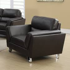 100 Contemporary Armchair Jayden Leather Brown Accent Chairs Modern