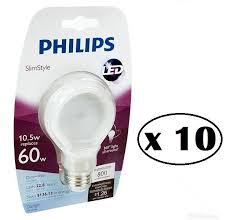 2 x philips slimstyle 60w equivalent daylight a19 dimmable led