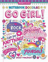Notebook Doodles Go Girl Coloring Activity Book