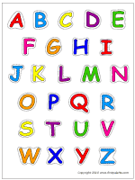 Upper Case Colored Letters