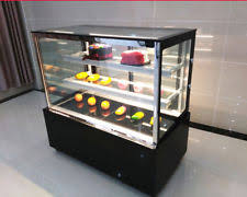 220V Glass Countertop Refrigerated Cake Pie Showcase Bakery Display Case Cabinet