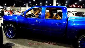 Candy Blue Silverado Truck On 26