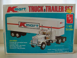 Vintage AMT Kmart Truck & Trailer Set Model Kit K799 1 43 Scale ...