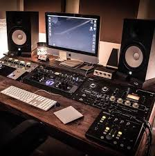 Studio Setup Desk Furniture Room Home Spaces Music Bedroom Rooms