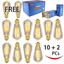 vintage edison bulbs 12 pack 7 squirrel cage filament bulbs 5