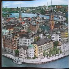Fantastic Cities Pg6 Stockholm Sweden Stevemcdonald Fantasticcities SwedenAdult ColoringColoring BooksAdult