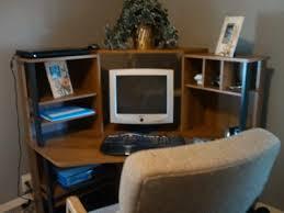 Mainstays Corner Computer Desk Instructions by Mainstays Corner Workstation Cherry With Black Accents Walmart Com