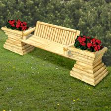 11 2188 garden bench with planters woodworking plan wood