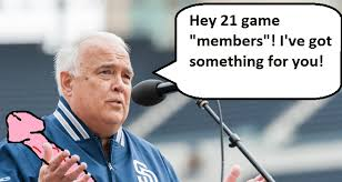 21 Game Season Ticket Package Devalued By Deceptive Padres Front