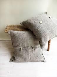 Rustic Throw Pillow Covers 18 X Linen Shams Natural Raw Sham Decorative Pillowcases Burlap