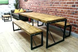 Industrial Farm Table Dining Room Furniture Co Throughout Style Ideas