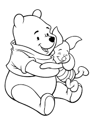 Winnie The Pooh Fabric Nursery by Winnie The Pooh Care With Piglet Coloring Page Winnie The Pooh