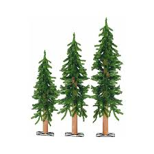Slim Pre Lit Christmas Tree Canada by 3 Piece Set Pre Lit Alpine Trees 2 3 And 4 Foot Buy Now