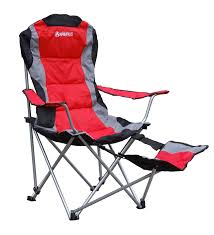 amazon com gigatent cing chair with footrest red cing