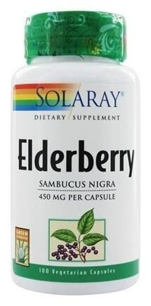 Solaray Elderberry Berries and Flowers Capsules - 450mg, x100