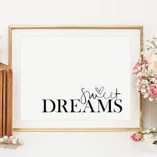 sweet dreams poster süße träume kunst fürs schlafzimmer