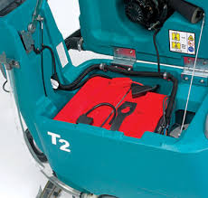 t2 battery powered walk behind scrubber dryer tennant company