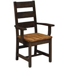 Farmstead Ladder Back Arm Chair Peaceful Valley Amish Furniture