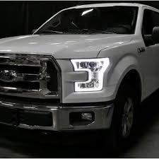 f 150 projector headlights with led perimeter daytime running