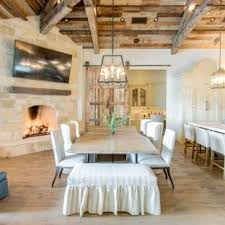 Inspiration For A Farmhouse Light Wood Floor Kitchen Dining Room Combo Remodel In Austin With