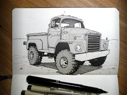 Sketchbook: 1973 Dodge Truck, Ricky Westwood On ArtStation At Https ...