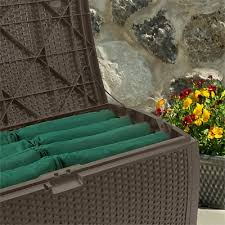 99 gallon resin wicker deck box suncast corporation
