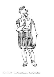 Ancient Greeks Shield Colouring Page