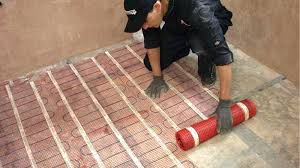 heating a tile floor low voltage system tile floor heated