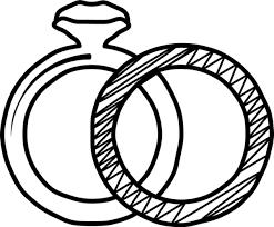 Rubber Stamp Two Wedding Rings Stamptopia