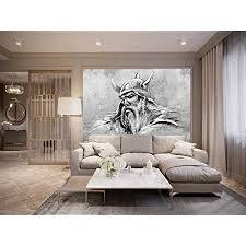bilderdepot24 fototapete selbstklebend wikinger ii schwarz weiß 150x100 cm moderne wand deko dekoration wohnung wohnzimmer wandtapete