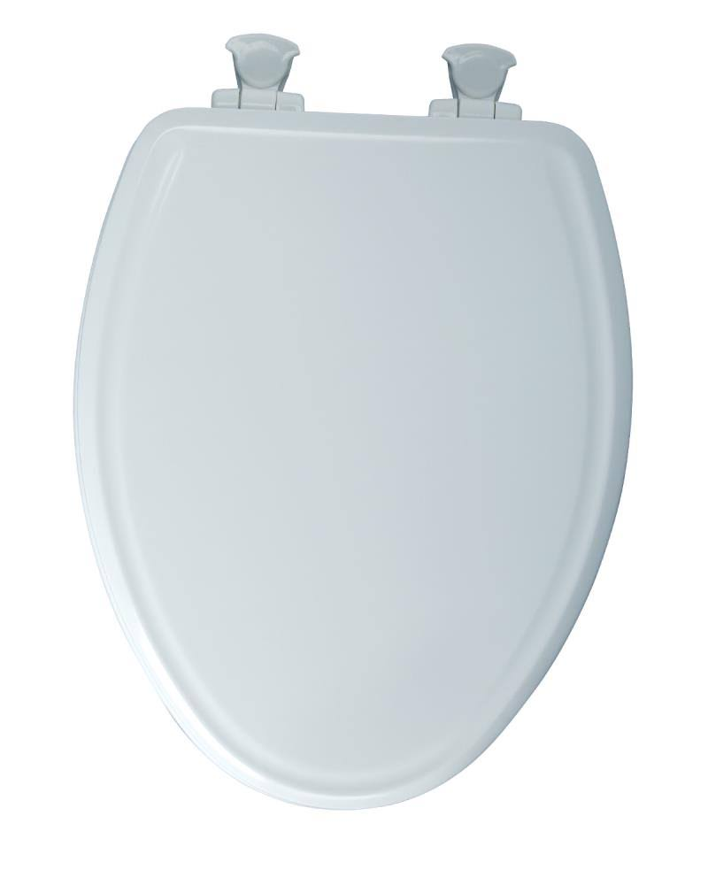 Mayfair Slow-Close Molded Wood Toilet Seat - with Lift-Off Hinges, Elongated, White