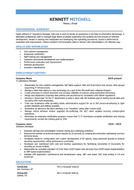 It Operations Manager Resume Sample Full Formidable Templates Rh Offtherecordnashville Com 10 Year Information Technology