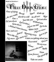 Three days grace songs by blackstar s on DeviantArt