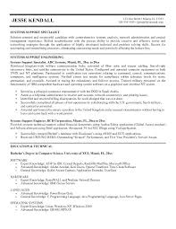 Cover Letter Technical Support Specialist Resume For