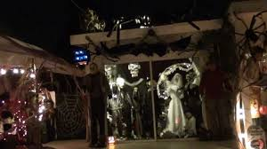Nightmare Before Christmas Halloween Decorations Outdoor by Halloween Decorated Haunted House Chula Vista Ca Youtube
