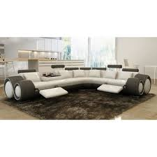 canapé angle en cuir canapé d angle design cuir blanc et gris relax achat vente