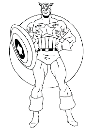 Captain America Coloring Sheets Civil War Black Panther Pages