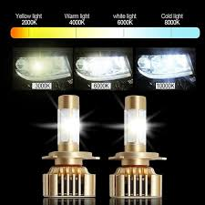 2 pcs car headlight bulb hi lo beam cob led headlights 80w 8000lm