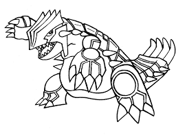 Pokemon Coloring Pages Groudon Legendary