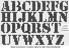 Diamonds cross stitch alphabet free made with pcstitch
