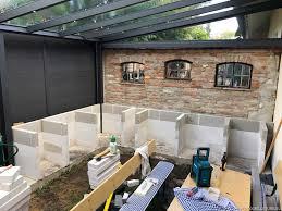 outdoorküche der ytong unterbau steht andys grillstube 2 0