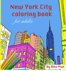 New York City Original Handmade Adult Coloring Book Alex Omar Man DIY