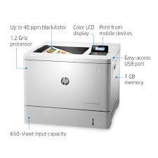 HP LaserJet M553n Color Laser Printer Office Depot