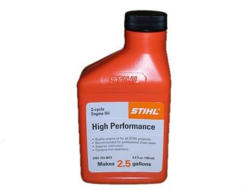 Stihl 0781 319 8009 6.4 Ounce High Performance 2 Cycle Engine Oil, 6 Pack