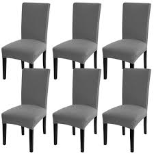 Stretch Spandex Dining Room Chair Slipcovers Fabric Removable Washable  Parson Chair Protector Cover For Dining Room, Hotel, Ceremony, Wedding,  Party ... Leanking Knit Spandex Fabric Stretch Removable Washable Ding Room Chair Slipcover Home Decor Set Of 4 Grey Leaf Pcs Turquoize Slipcovers Jacquard Kitchen Parson Protector Cover Seat For Hotelding Using Chalk Paint To Your Couch Or Wing Back Vinyl Covers Plastic For Chairs Parsons Best Rated In Helpful Customer Reviews Argstar Pack Beige Deconovo Modern 2 How To Sew A The Ikea Henriksdal Bar Scarce Amazon Com Xflyee Redoubtable With Arms Magnificent